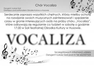 Nabór do chóru Vocaliza w Husowie